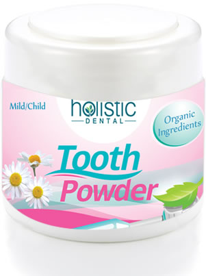 Mild / Child Tooth Powder with Organic Ingredients